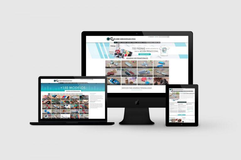 Página web a medida para usb-memorias.com