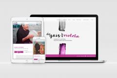 Diseño Página web Do Gris ao Violeta